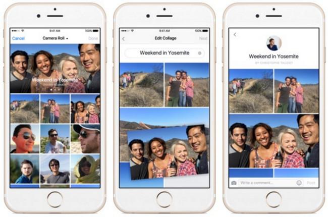 Facebook fitur Edit Collage