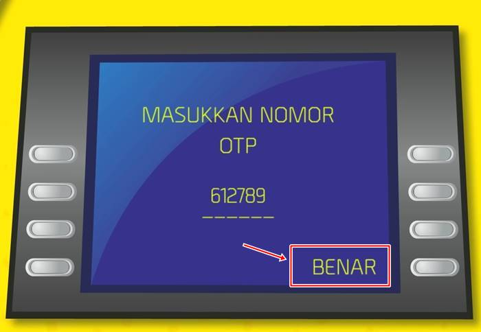 Ambil Uang ATM  mandiri Pakai HP