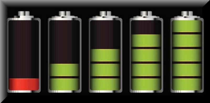 Baterai ponsel ilustrasi