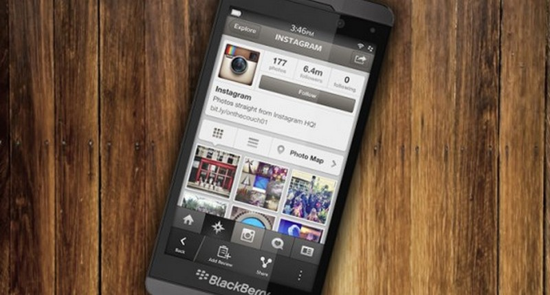 Instagram di BlackBerry