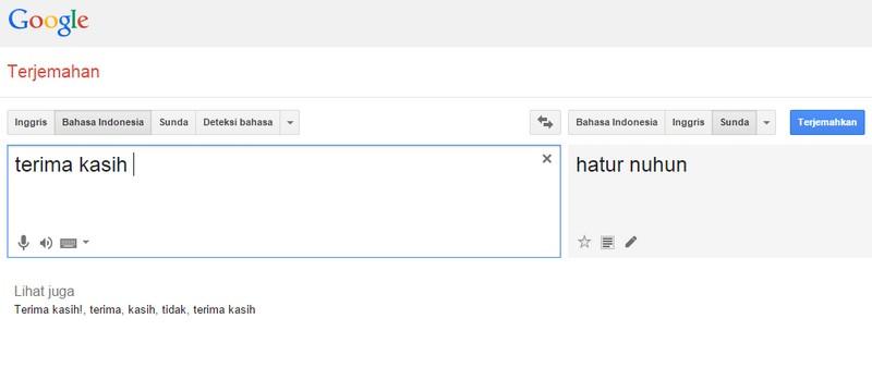 Google Translate Tambah Koleksi Bahasa Sunda Telset