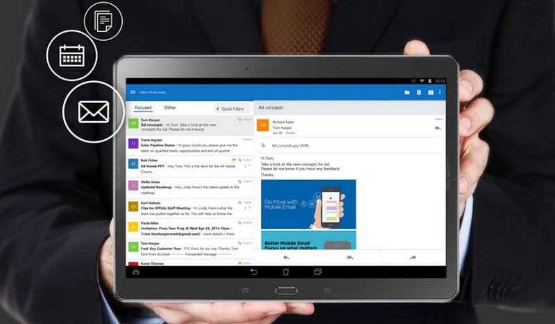 Microsoft Outlook di iOS dan Android