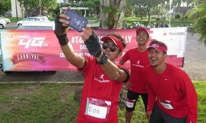 Telkomsel 4G LTE Carnival Bali- selfie runer