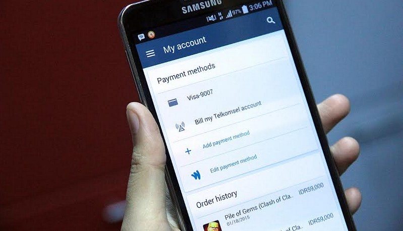 Telkomsel carrier billing Play Store