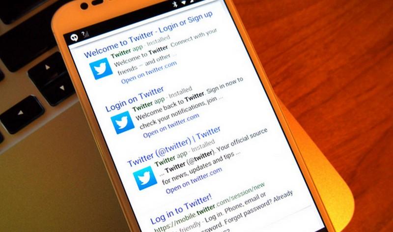 Tweet di Google Search
