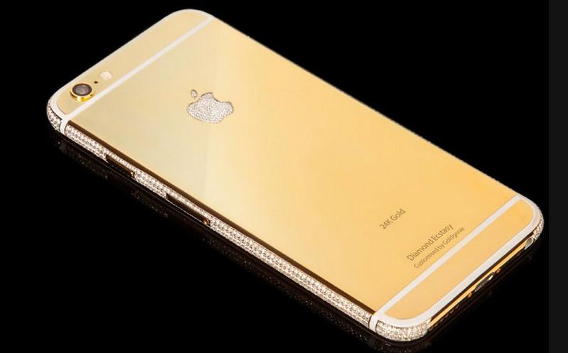 iPhone 6 Diamond Ecstasy berlapis emas 24K