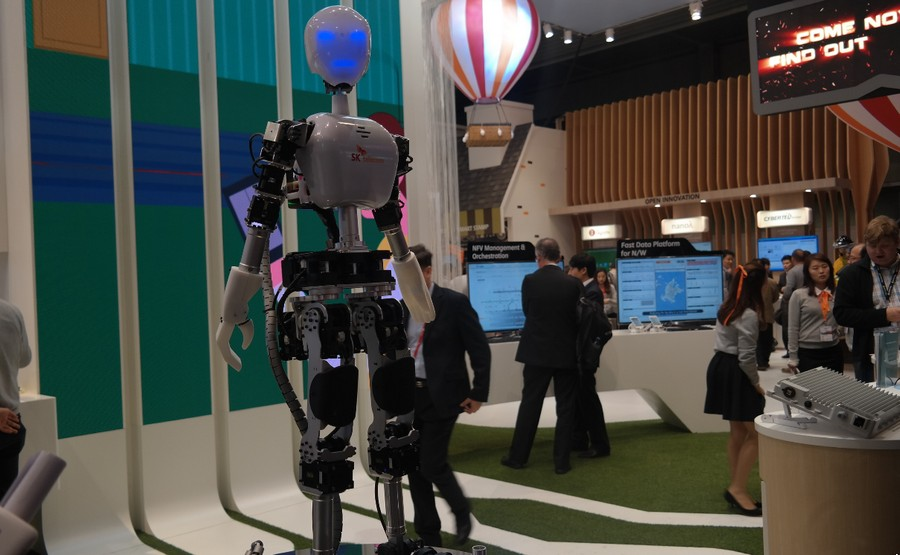 Robot dengan teknologi 5G