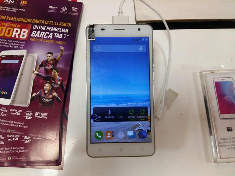 Advan Star Note S55 Phablet Quad Core 55 Inci Harga