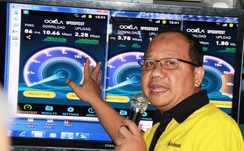 Indosat test drive Lombok