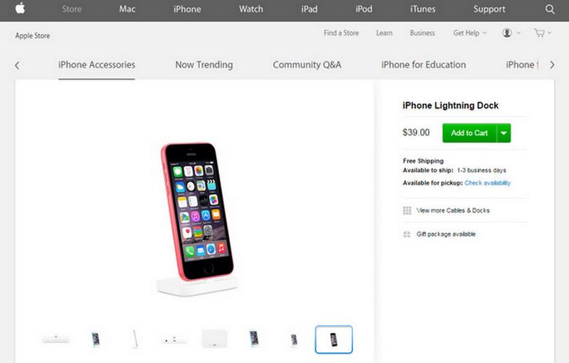 iPhone 6c di Apple Store