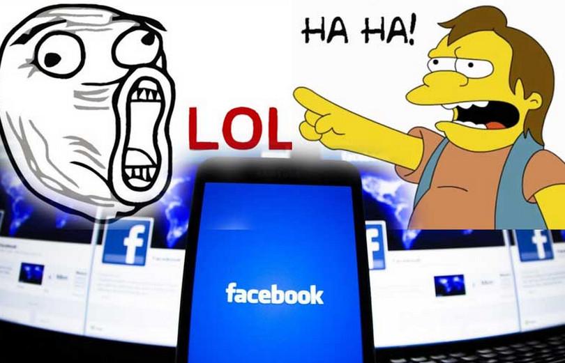 Facebook LOL haha
