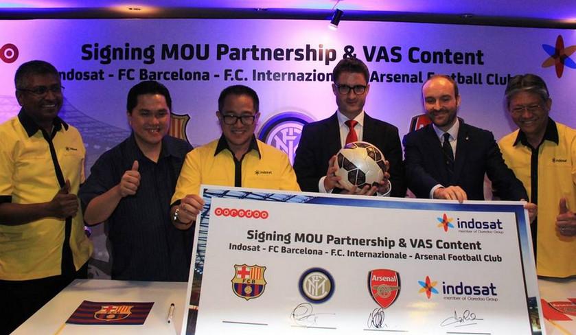 Indosat kerjasama 3 klub bola