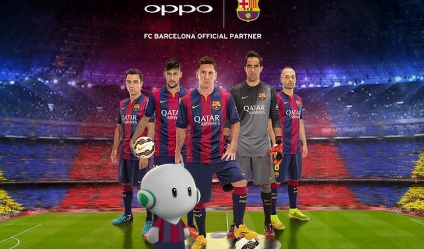 Oppo R7 FC Barcelona Edition teaser