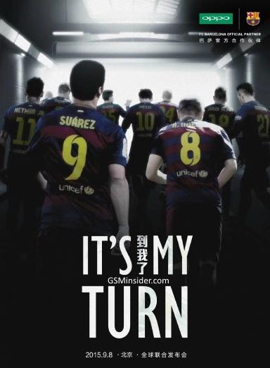 Oppo R7 FC Barcelona teaser