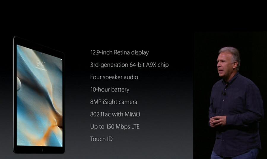 iPad Pro 12,9 inchi spec