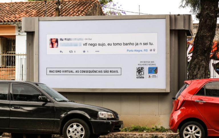 Penyebar 'Hate Speech' di Brazil Dipajang di Billboard