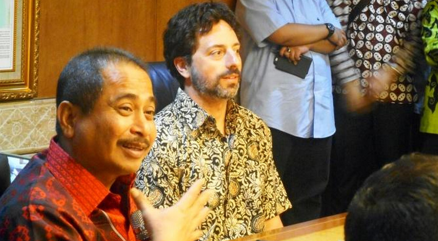 Sergey Brin Google dan Menpar Arief Yahya