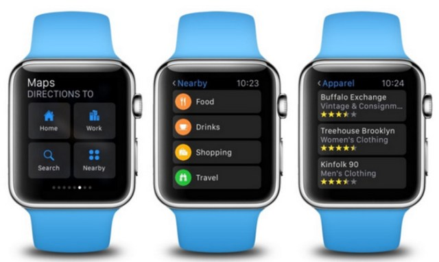 WatchOS 2.2 Tambahkan Nearby Search di Apple Watch