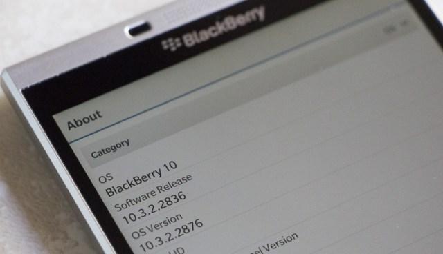 BlackBerry 10 Terima Update Versi 10.3.2.2876