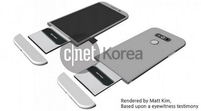 LG G5 dengan desain modular