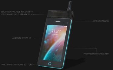 Unik! Alat Hisap Rokok Elektrik Plus Smartphone