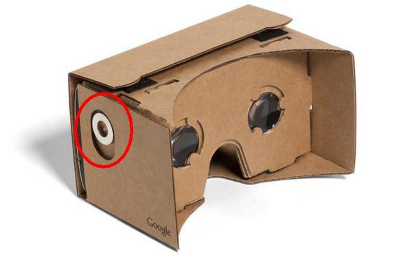 Google Cardboard tombol elemen