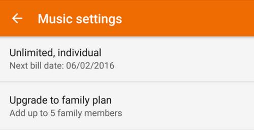 Google Play Music Family Play setting 1