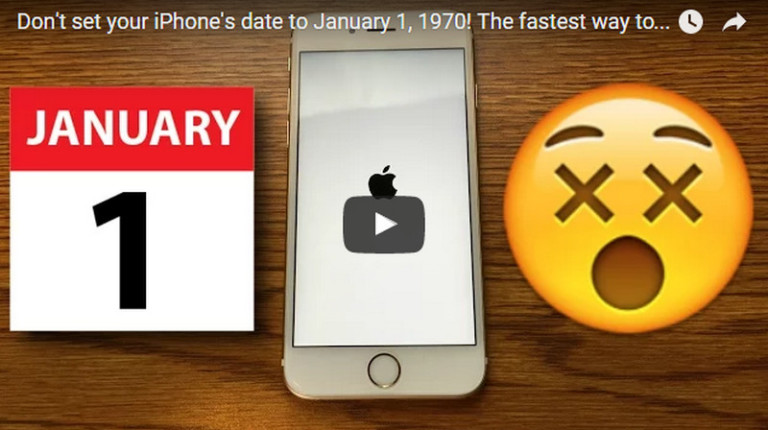 Как поставить дату на на айфон