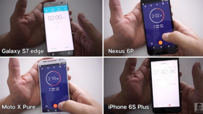 Speed Test Galaxy S7 edge vs iPhone 6s
