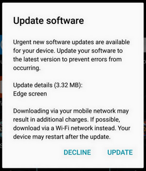 Update urgent Galaxy S7 edge