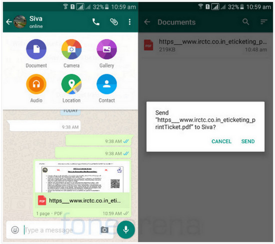 WhatsApp kirim file PDF