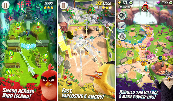 Angry Birds Action game play