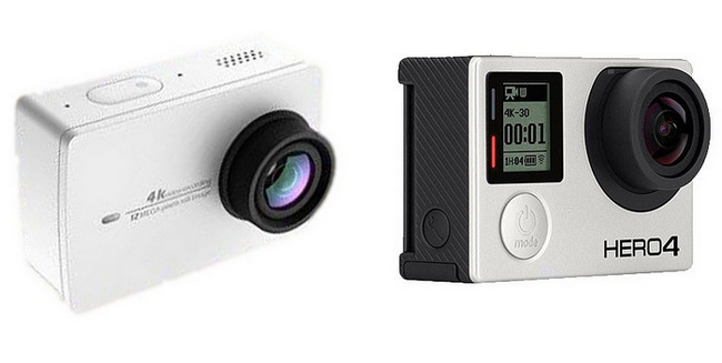 Xiaomi Yi Action Camera 4K vs GoPro Hero 4 [Video]