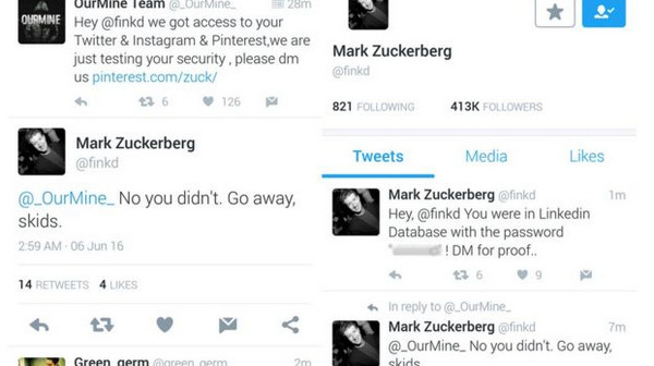 Mark Zuckerberg di hack