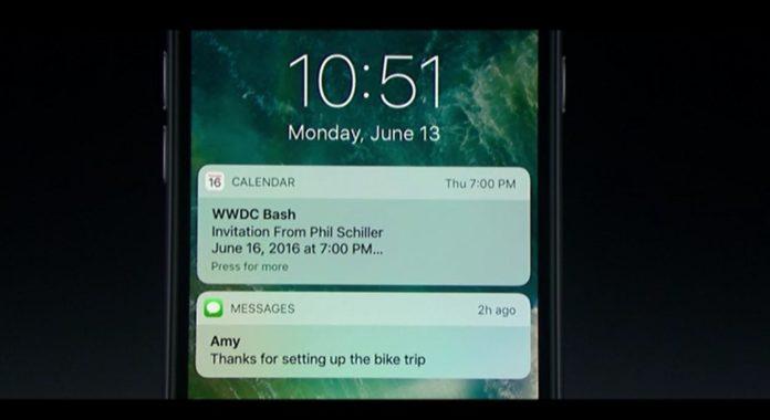 Lock Screen di iOS 10