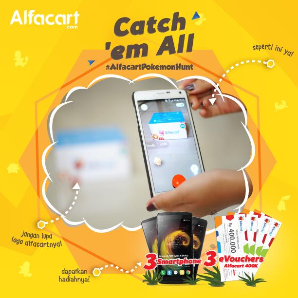 Alfacart.com Ajak Pelanggan Berburu Pokemon