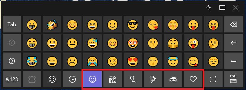 Menggunakan emoji di windows