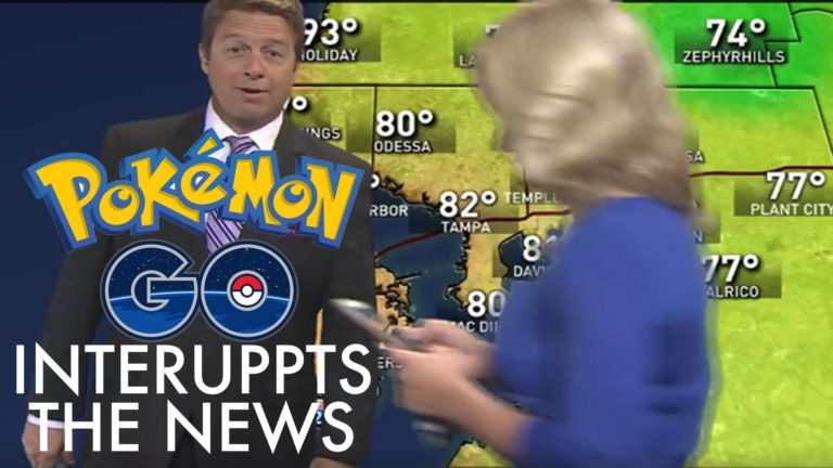 Gara-gara Pokemon, Reporter TV Menyela Siaran Berita