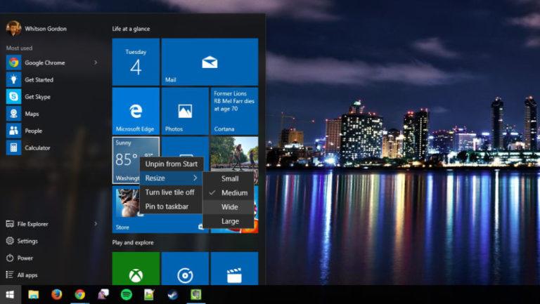 Membuat Start Menu Windows 10 Sama di Semua Akun