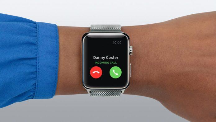 tolak panggilan di Apple Watch