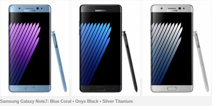 Samsung Galaxy Note 7 pic 2 warna