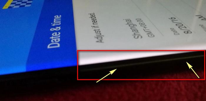 Samsung Galaxy Note 7 sinar keluar dari samping