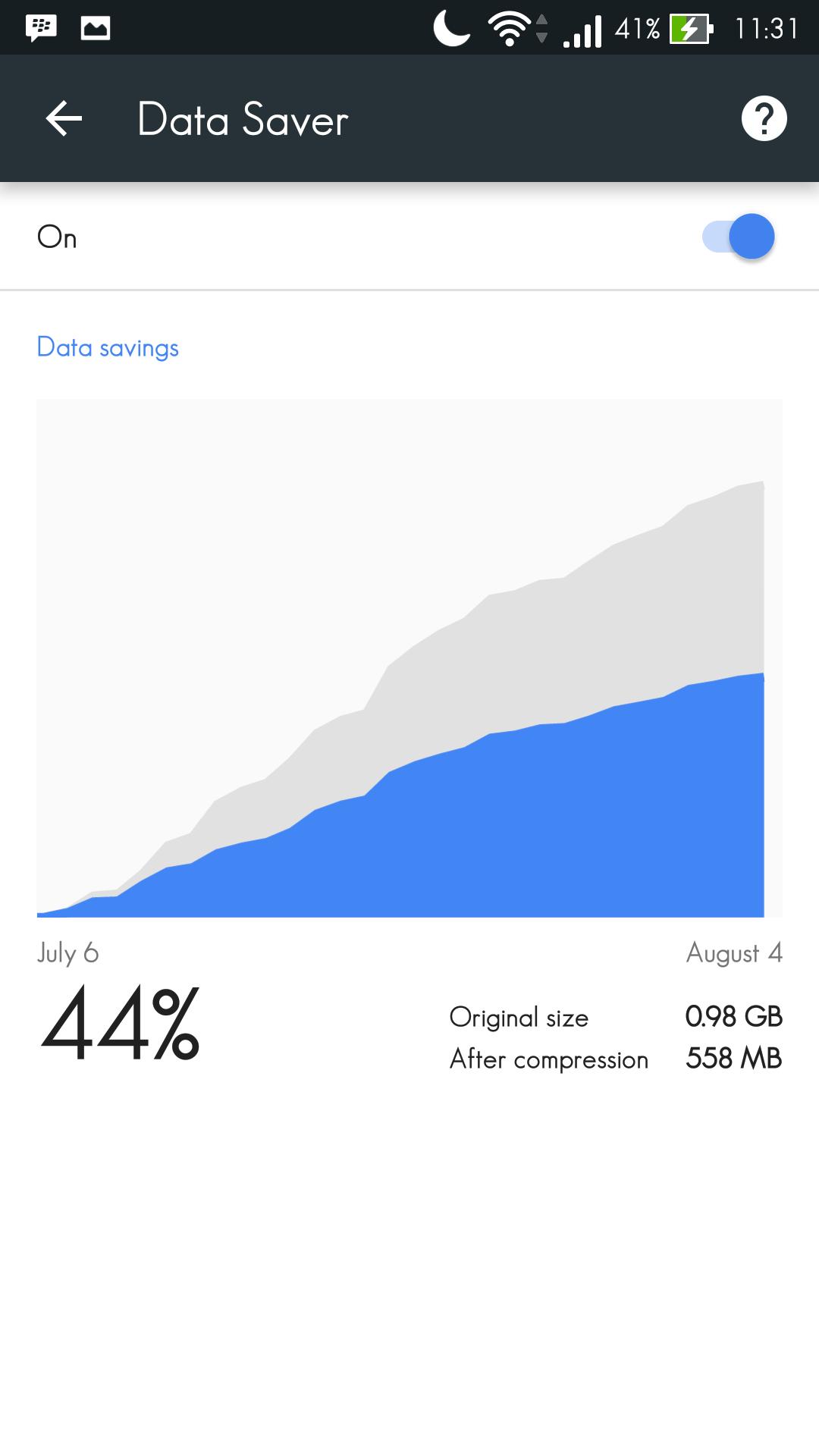 Setting Data Saver 3
