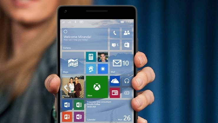 Smartphone Windows 10