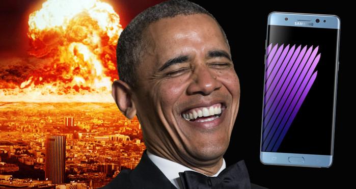 Note 7 Tumbang, Presiden Barack Obama 'Bully' Samsung