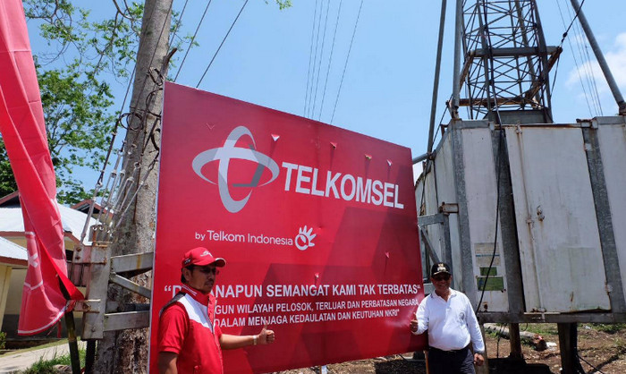 BTS 2G/3G Telkomsel di Pulau Nusa Laut yang berlokasi di Kepulauan Lease, Kabupaten Maluku Tengah Provinsi Maluku (Foto: Telkomsel)