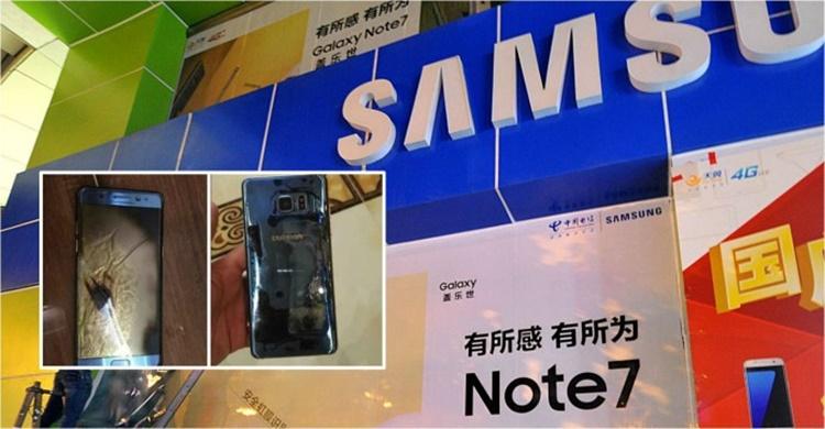 Apes! Maling Ini Curi Galaxy Note 7 dan Meledak