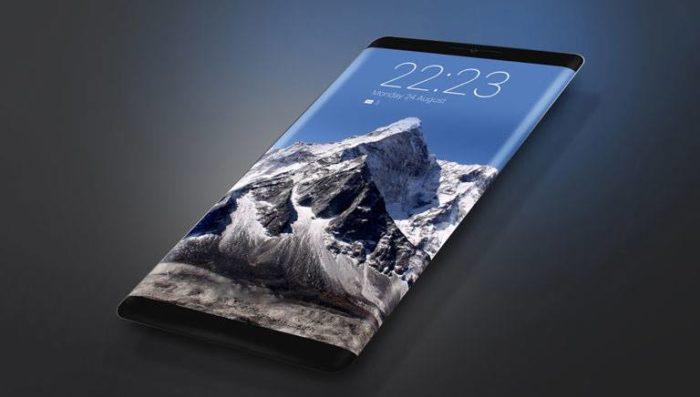 smartphone layar lengkung dan desain borderless