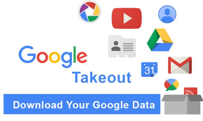 download semua data dari akun Google