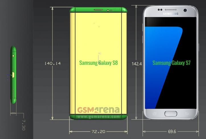 Bocoran Baru Ungkap Dimensi Samsung Galaxy S8 dan S8 Plus